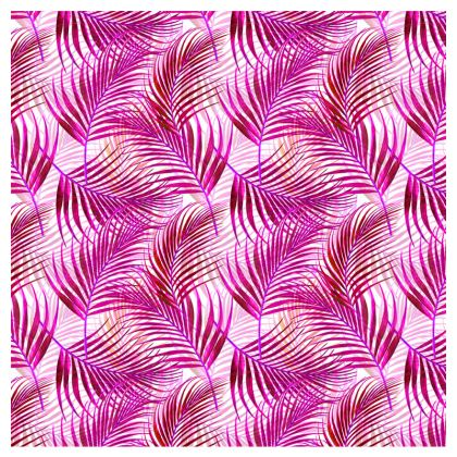 Tropical Garden Collection in Magenta Leather Clutch Bag
