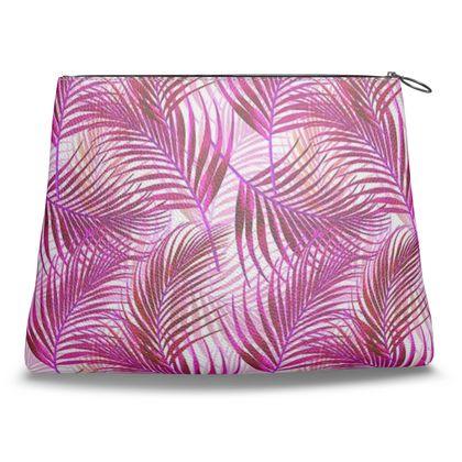 Tropical Garden Collection in Magenta Clutch Bag