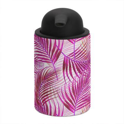 Tropical Garden Collection in Magenta Soap Dispenser