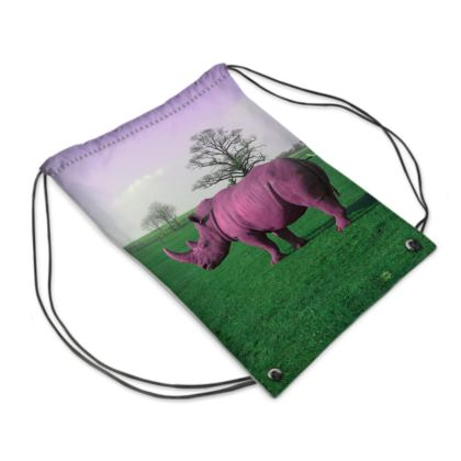 Swim Bag - Pink Rhino