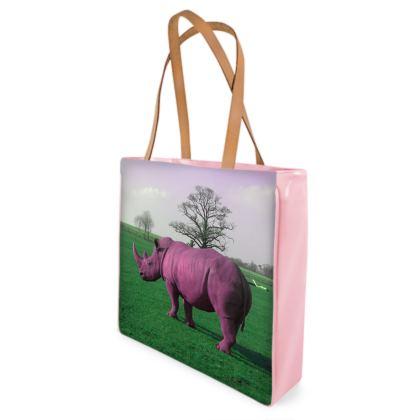 Beach Bag - Pink Rhino