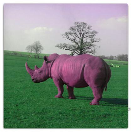Picnic Blanket - Pink Rhino