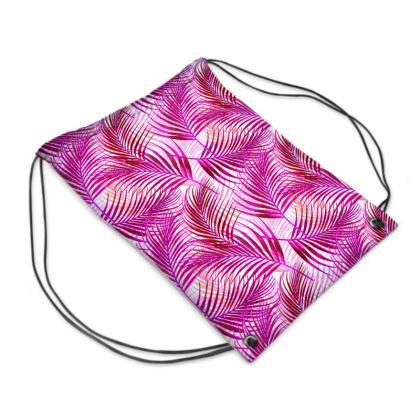 Tropical Garden Collection in Magenta Swim Bag
