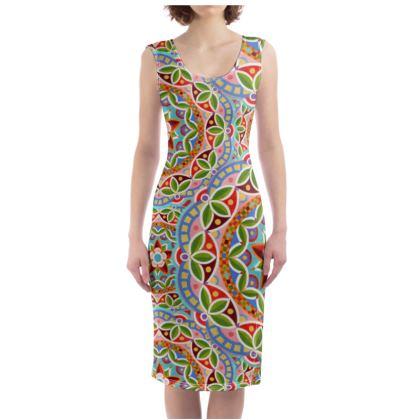Fiesta Mandala Bodycon Dress