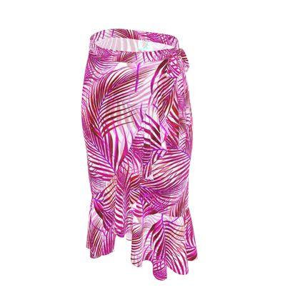 Tropical Garden Collection in Magenta Flounce Skirt