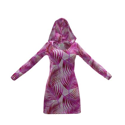 Tropical Garden Collection in Magenta Hoody Dress