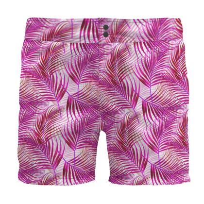 Tropical Garden Collection in Magenta Board Shorts