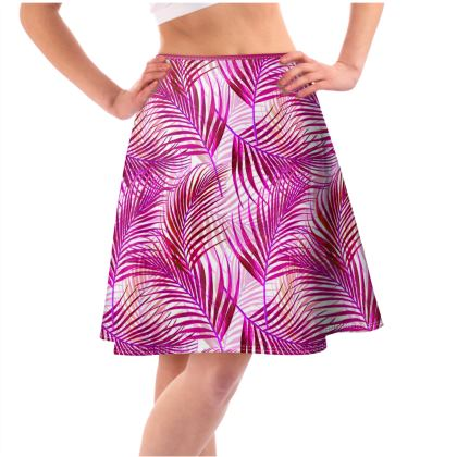 Tropical Garden Collection in Magenta Flared Skirt