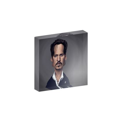 Johnny Depp Celebrity Caricature Acrylic Photo Blocks