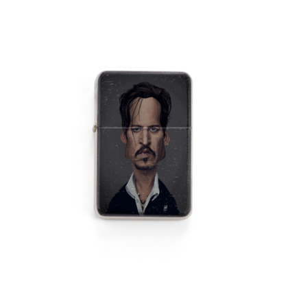 Johnny Depp Celebrity Caricature Lighter