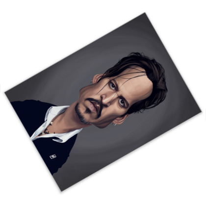 Johnny Depp Celebrity Caricature Postcard