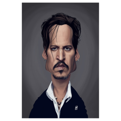 Johnny Depp Celebrity Caricature Art Print