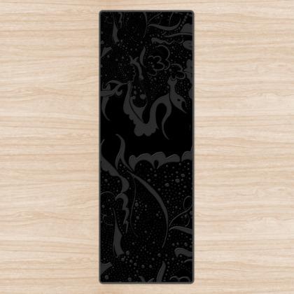 Yoga Mat - Yogamatta - Grey Black ink black