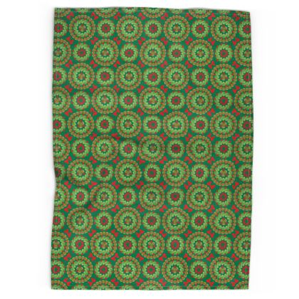 Christmas Brussels sprouts tea towel