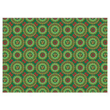 Christmas Brussels sprouts fabric placemat