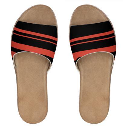 Women's Leather Sliders - Minimal 2