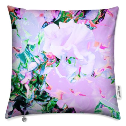"""FLORAL PRINTED CUSHION IN """"SWEETPEA PINK"""""""