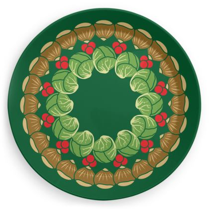 Christmas Wreath Party Plate