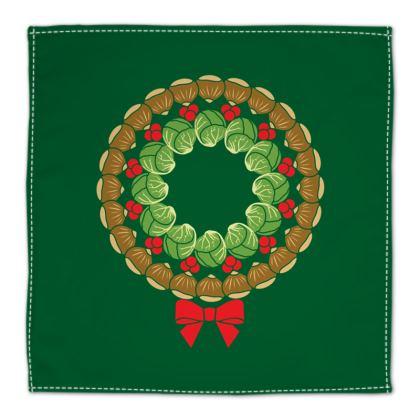 Christmas Wreath Napkin