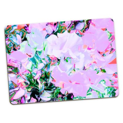 """LARGE PRINTED PLACEMATS IN """"SWEETPEA PINK"""""""