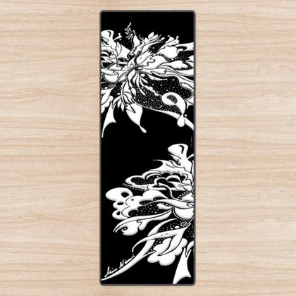 Yoga Mat - Yogamatta - White ink black
