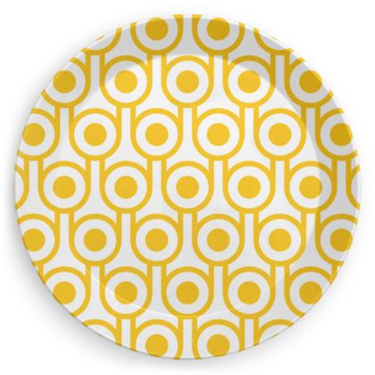 Yellow fried eggs party plate