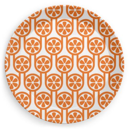 Orange oranges party plate
