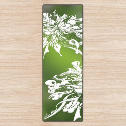 Yoga Mat - Yogamatta - White ink gradient green