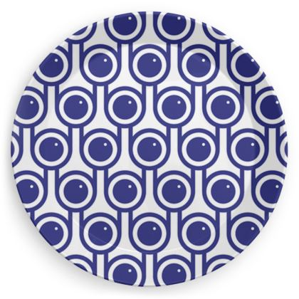 Blue blueberries party plate