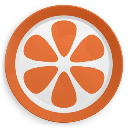 Orange Orange Slice Print Plate