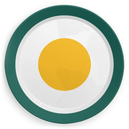 English breakfast print party plates set of 4
