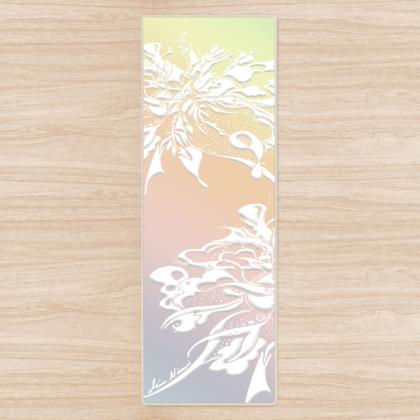 Yoga Mat - Yogamatta - White ink gradient