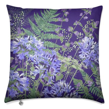 Agapanthus Medley Luxury Cushion
