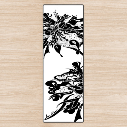 Yoga Mat - Yogamatta - Black ink white