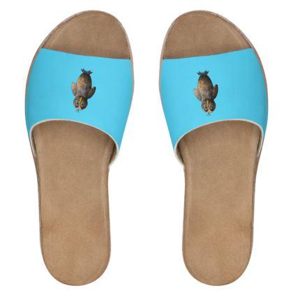 Women's Leather Sliders - Birdie