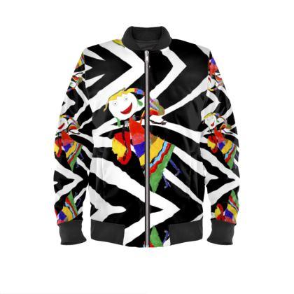 Zebra Fairy Mens Bomber Jacket
