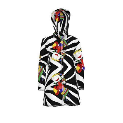 Zebra Fairy Hooded Rain Mac