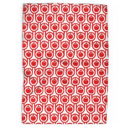 Red tomatoes tea towel