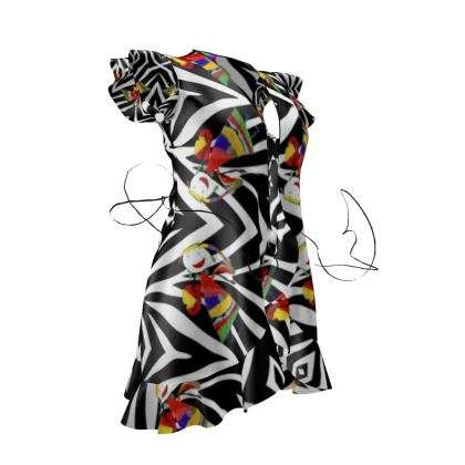 Zebra Fairy Tea Dress by Elisavet