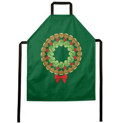 Christmas wreath apron
