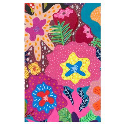Flip Flops Secret Garden hand painted floral abstract