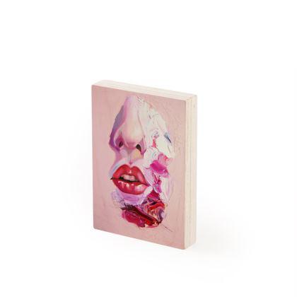 Open Wide Lips Wood Prints
