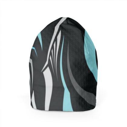 cappello in lana con motivi arte
