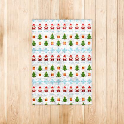 Pixel Art Christmas Pattern Rug