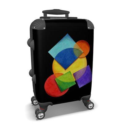 Rainbow Geometric Carry-On Suitcase
