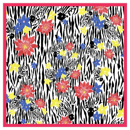 The Zebras Head Scarf or Shawl
