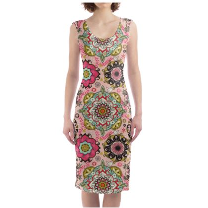 Colour Mandala Bodycon Dress