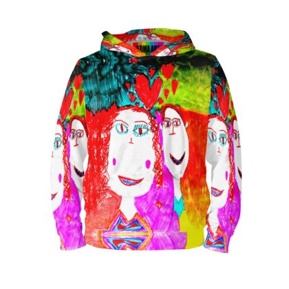 Pop Art Kids Love by Elisavet Hoodie