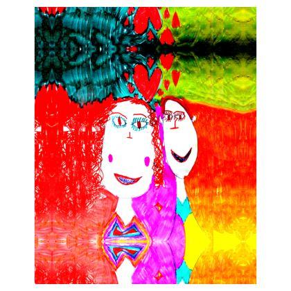 Pop Art Kids Love by Elisavet Hoodie Zip