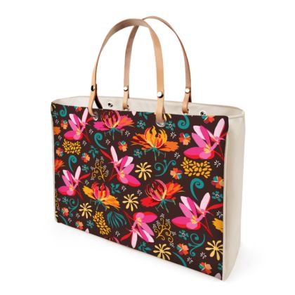 Tropical Flower Handbags